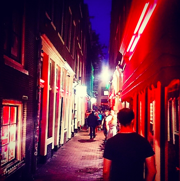 Strolling through the red light district